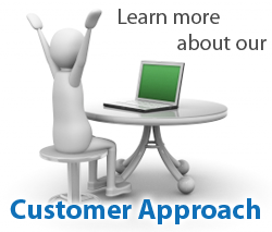 learn more about customer approach